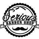Serious barber shop